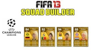 FIFA 13 Ultimate Team - Squad Builder - CHAMPIONS LEAGUE