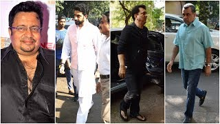Abhishek Bachchan, Paresh Rawal, Sajid Nadiadwala attend Neeraj Vora's funeral - TIMESOFINDIACHANNEL