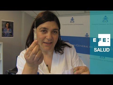 La aguja, la vía intravenosa y el suero