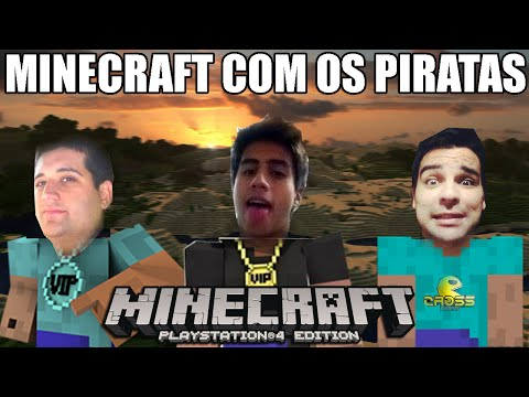 MINECRAFT PS4 - Caçando Endermen com os PIRATAS