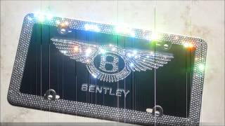 icy couture swarovski crystal bentley license plate frame youtube