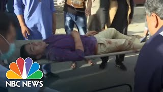 Footage Captures Horror Of Latest Kabul Suicide Blast | NBC News - NBCNEWS