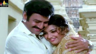 Krishna Babu Movie Balakrishna and Meena in Temple | Telugu Movie Scenes | Sri Balaji Video - SRIBALAJIMOVIES