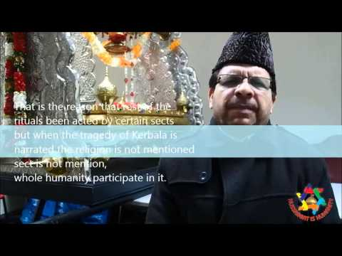 ALLAMA RIAZ RIZVI MESSAGE OF HUSSAINIAT IS HUMANITY 2013