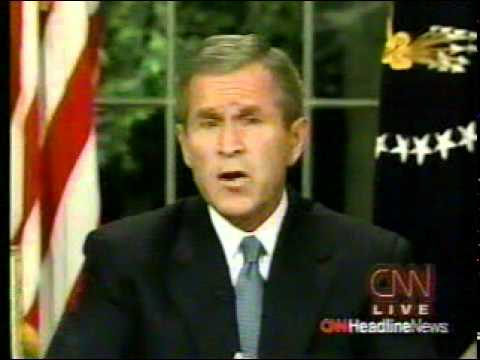 9/11 News Coverage:  8:30 PM: Bush Oval Office Address