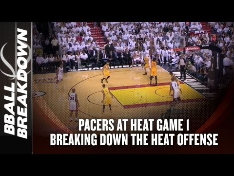 2013 NBA Playoffs: Pacers at Heat - What The Heat Run On Offense