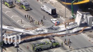 Pedestrian bridge collapses at Florida university - WASHINGTONPOST