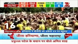 Assembly election results: Euphoria at BJP's win in Maharashtra, Haryana - ZEENEWS