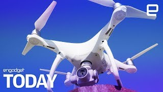 A drone accidentally landed on Britain's biggest warship | Engadget Today - ENGADGET