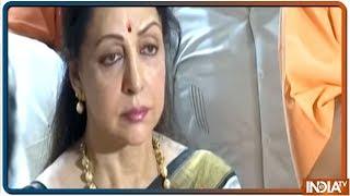 Hema Malini offers prayers in Mathura, Farooq Abdullah files nomination in Srinagar - INDIATV
