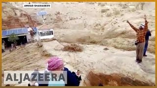🇯🇴 Jordan rains and floods kill 12, force tourists to flee Petra | Al Jazeera English - ALJAZEERAENGLISH