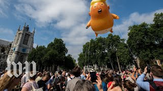 Britain greets Trump with protests - WASHINGTONPOST