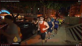 Venezuelans escape daily pressures by running - ALJAZEERAENGLISH