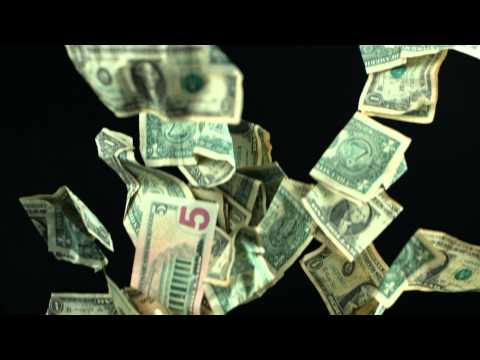 Slow Motion Falling Money HD US Dollars Fall from the Sky with Video Shot in High Definition Format