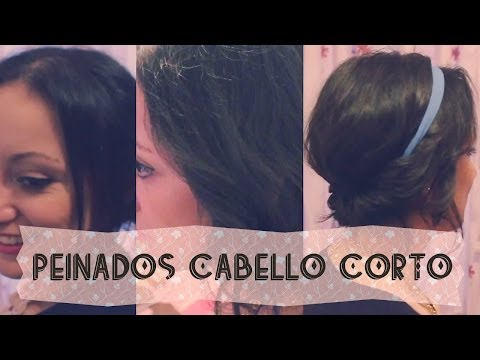 ♡ 3 Peinados para cabello corto ♡ - Enchina tu cabello con plancha! - Coffee at six ♡