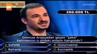 Kim Milyoner Olmak İster Mustafa Kesal 250 Bin Tl lik Soru