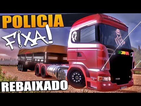 Policia e Caminhão Rebaixado - Rodando Pelo Brasil