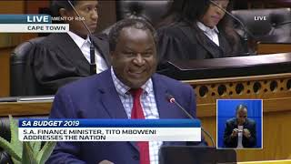 SA Finance Minister Tito Mboweni delivers 2019 budget speech (Full speech) - ABNDIGITAL