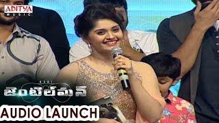 Surabhi Beautiful Speech At Gentleman Audio Launch || Nani, Surabhi - ADITYAMUSIC