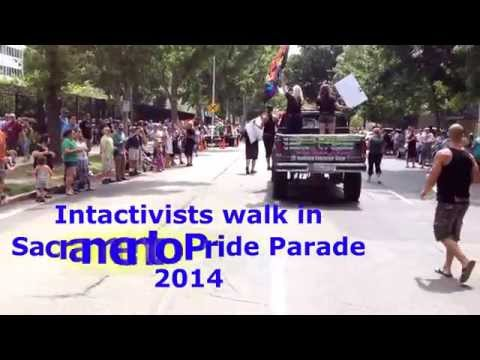 Intactivists walk in Sacramento Pride Parade