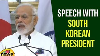 Modi Speech with South Korean President Moon Jae in Joint Press Meet | Modi Speech | Mango News - MANGONEWS