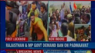 Karni goons vandalise public property; Will there be an end to the Padmaavat war? - NEWSXLIVE