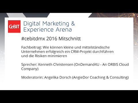 """#cebitdmx: """"CRM-Projekt durchführen und Risiken minimieren"""""""