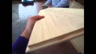 Производство паркетной доски Paolоni - браширование, сглаживание Паркет Пол Красноярск