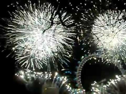 New year celebration in London eye