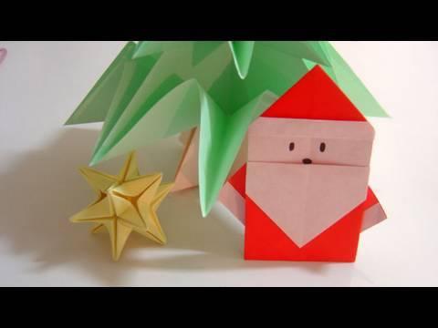 How to make santa claus earrings for Make origami santa claus