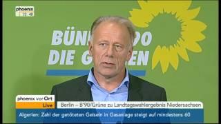 Jürgen Trittin, Anja Piel & Stefan Wenzel zum Wahlausgang in Niedersachsen (21.01.2013)