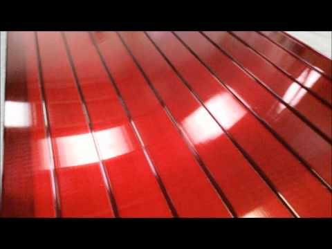 Telhas de Policarbonato Click Vermelha Translucida   Polysolution