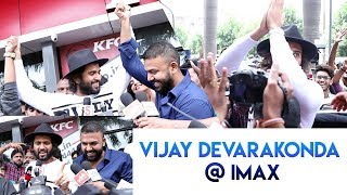 Vijay Devarakonda Hungama At Imax Theatre | Meeku Matrame Chepta Movie Public Talk - IGTELUGU