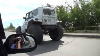 УАЗ на очень больших колесах, супер машина для OFF ROAD