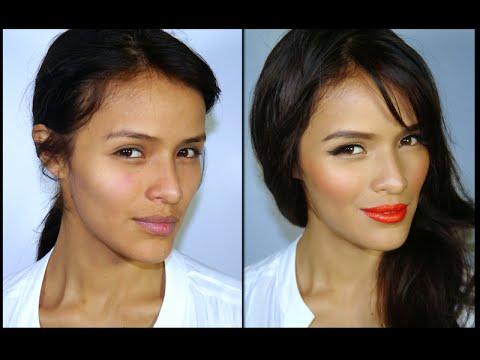 Tendencia de Maquillaje 2014- Labios Naranjas y piel luminosa