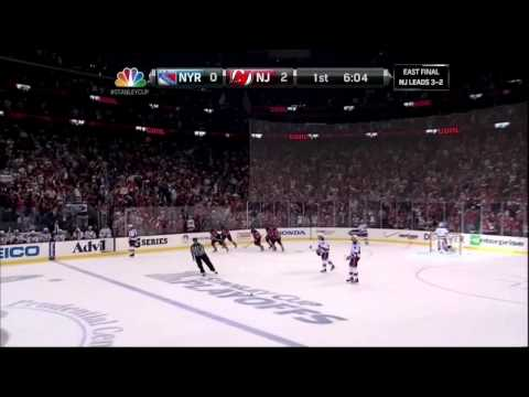 Ilya Kovalchuk PPG goal. NY Rangers vs  New Jersey Devils Game 6 5/25/12 NHL Hockey