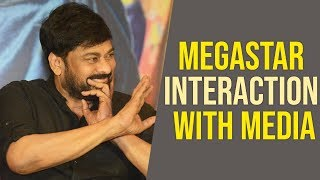 Megastar Chiranjeevi Interaction With Media | Sye Raa Press Meet - TFPC