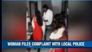 Violence caught on cam: TRS leader grabs woman's hair, thrashes her - NEWSXLIVE