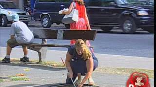 Just for laughs gags - Blind man falls in man hole!