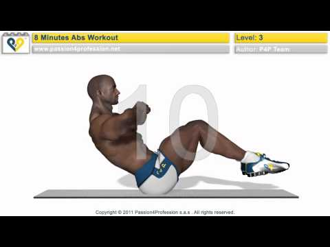 8 Min Abs Workout - Level 3 (Six pack)