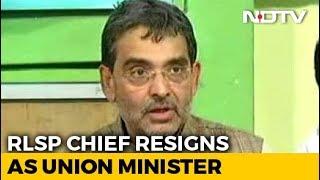 Upendra Kushwaha, BJP's Sulking Bihar Ally, Resigns As Union Minister - NDTV