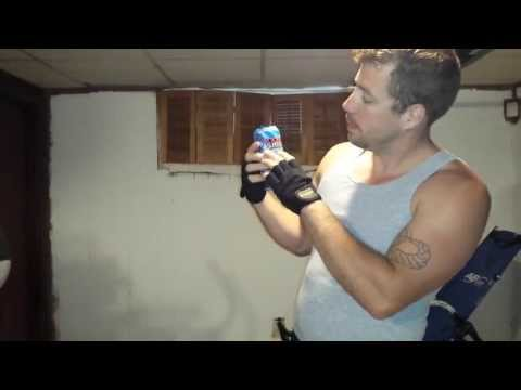 rockstar supersours bubbleberry energy drink review and Are Jay's WOD one arm bench press