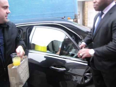 Sam Faires & Joey Essex entering Celeb Juice