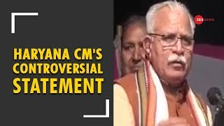 Khattar statement insults women over rape's logic - ZEENEWS