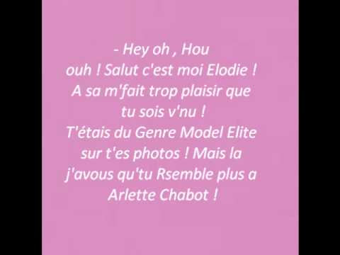 Paroles - Tu fess' Book BEL AIR