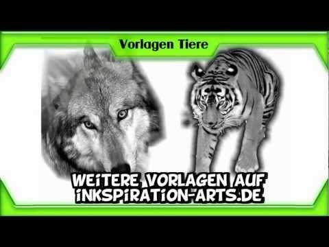 Tiere Tattoo Vorlagen tätowieren lassen