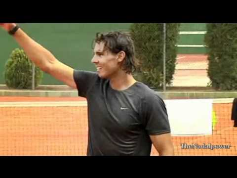 Rafa Nadal playing soccer