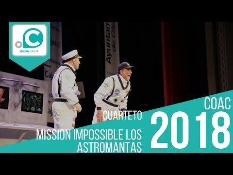 La agrupación Misión Imposible: Los astromantas llega al COAC 2018 en la modalidad de Cuartetos. Primera actuación de la agrupación para esta modalidad.