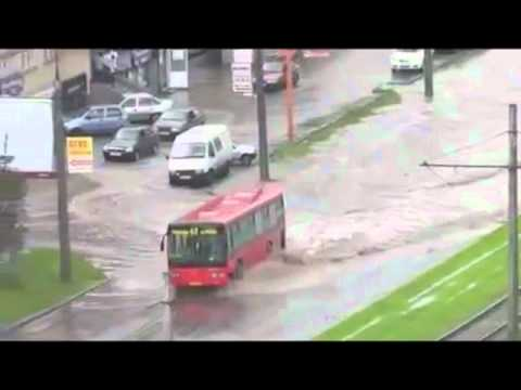 Caught in flood, drive like a bus