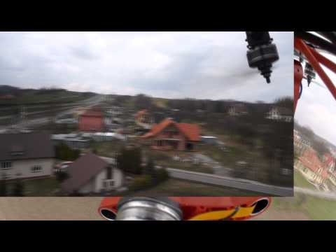 brushless gimal with Sony Nex5  view gopro